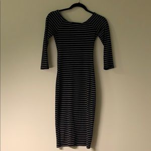 Striped 3/4 Sleeve Zara Dress